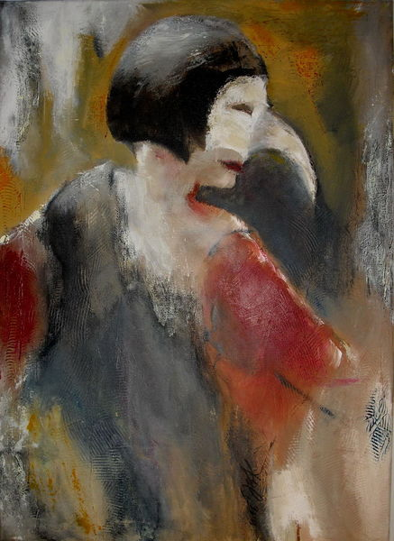 Abstrakt, 2015, Acrylmalerei, Venedig, Menschen, Malerei