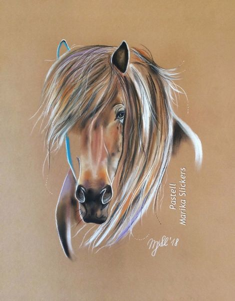 Reiten, Gemälde, Pastellmalerei, Pony, Malen, Irland