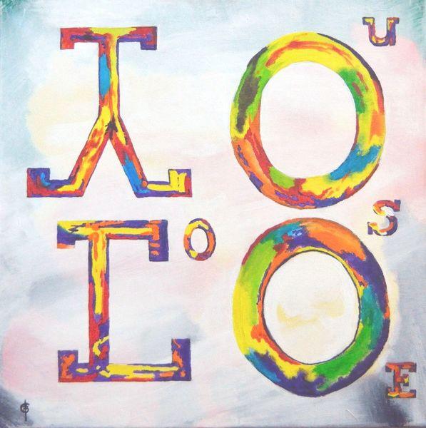 Loose, Schrift, Gesellschaft, Worte, Yolo, Acrylmalerei