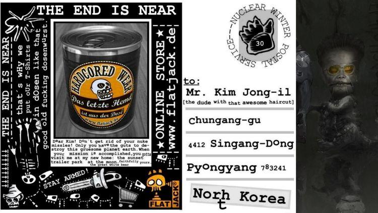 Kim jong il, Kampf, Postkarte, Weltuntergang, Shirt in dose, Dominanz