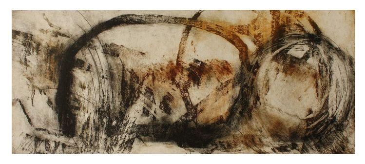 Tiefdruck, Zeichnung, Büttenpapier tiefdruck, Landschaft, Schwarz, Natur