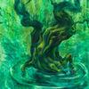 Grün, Mystik, Surreal, Figural