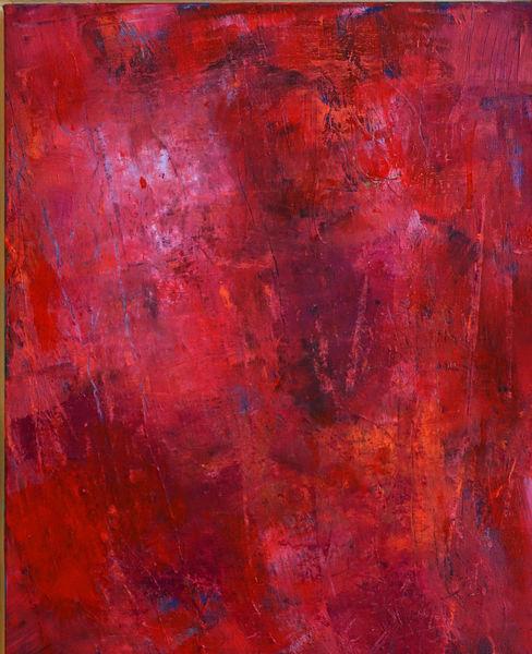 Informel, Rot, Spachtelabeit, Malerei