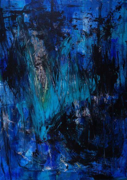 Blau, Malerei, Informel