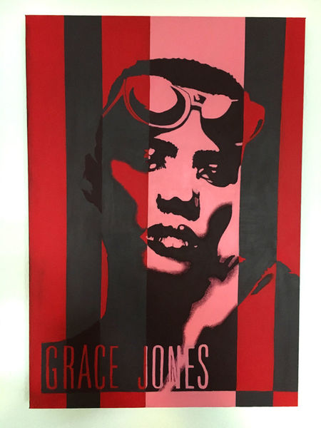 Grace jones, Popart, Google, Mosimoart, Malerei, Pop