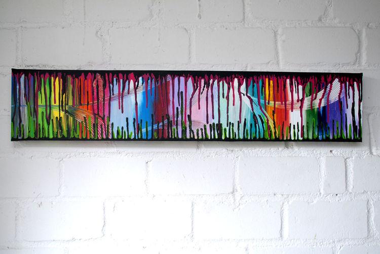 Blau, Abstrakt, Grün, Rot schwarz, Malerei