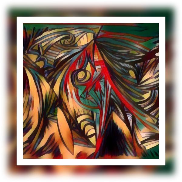 Fantasie, Schwungvoll, Bunt, Surreal, Digitale kunst