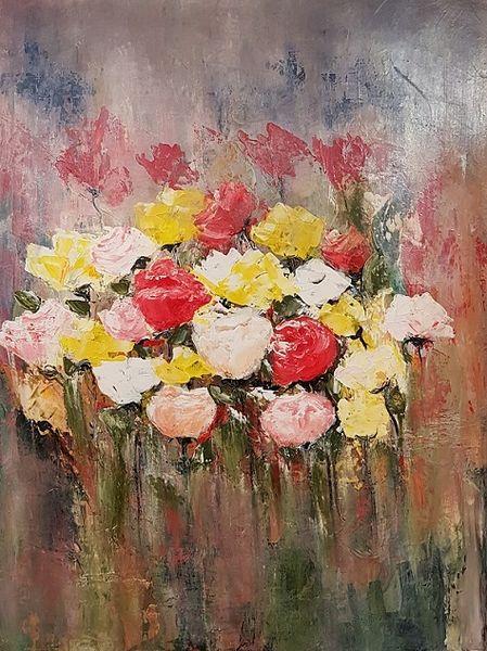 Abstrakte malerei, Abstrakte kunst, Gemälde, Rose, Malerei