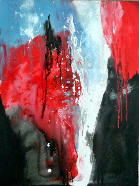 Moderne malerei, Abstrakte malerei, Rot, Moderne kunst, Blau, Gemälde