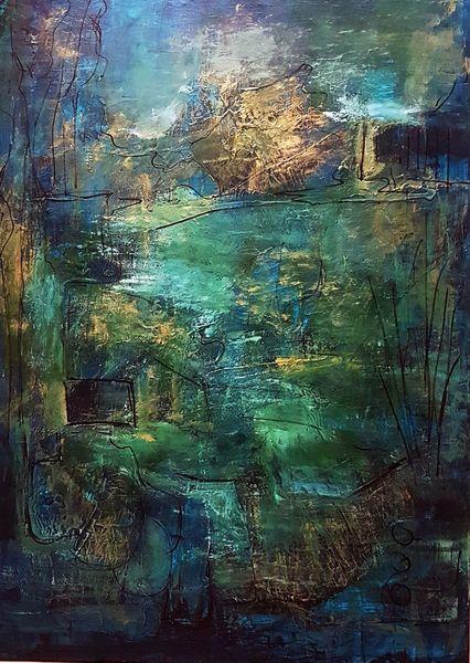 Abstrakte malerei, Moderne malerei, Gemälde abstrakt, Gold, Moderne kunst, Acrylmalerei
