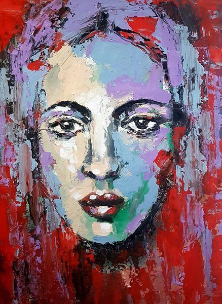 Malerei, Moderne malerei, Gemälde, Abstrakt, Zeitgenössische malerei, Spachteltechnik
