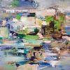 Grün, Zeitgenössische malerei, Abstrakte malerei, Moderne malerei