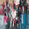 Moderne malerei, Magenta, Abstrakte malerei, Abstrakte kunst