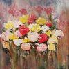Abstrakte malerei, Abstrakte kunst, Gemälde, Rose