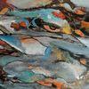 Moderne malerei, Blau, Gemälde, Orange
