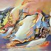 Abstrakte malerei, Abstrakte kunst, Gelb, Gemälde
