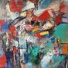 Abstrakte malerei, Abstrakte kunst, Gemälde abstrakt, Grün