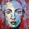 Moderne malerei, Gemälde, Abstrakt, Zeitgenössische malerei