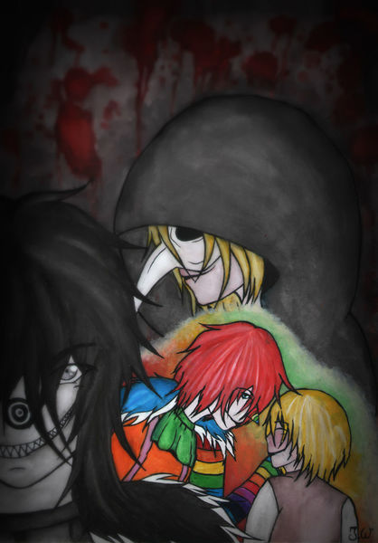 Manga, Anime, Creepypasta, Clown, Aquarell, Fan