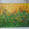 Blumenwiese, Flur, Artgallery, Blumengarten