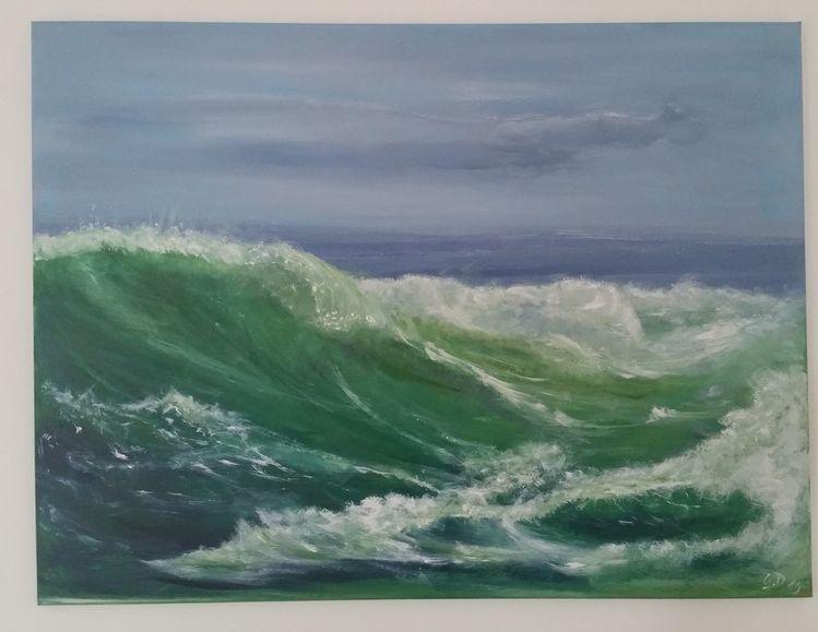 Mittelmeer, Acrylpainting, Ozean, Wandbilder, Atlantik, Gemälde