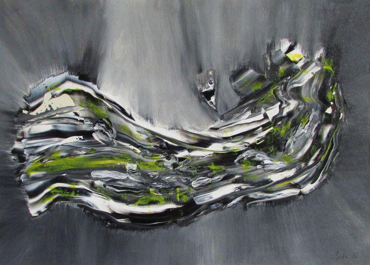 Malerei, Zeitgenössisch, Abstrakt, Moderne kunst, Feierabend