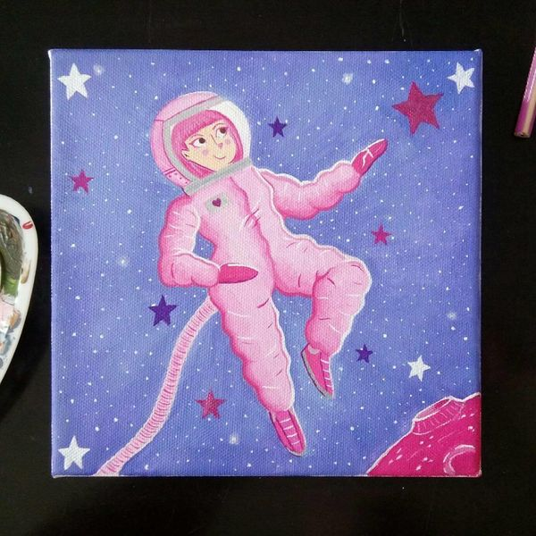 Kinderbuch, Illustration, Fantasie, Galaxie, Universum, Astronaut