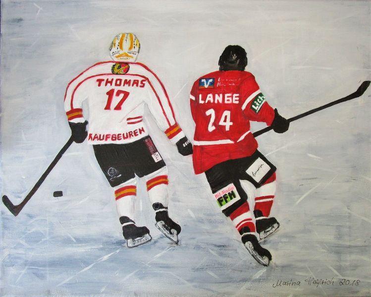Sport, Winter, Eishockey, Spieler, Malerei