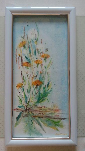 Aquarellmalerei, Lövenzahn, Aquarell,