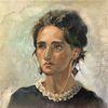 Frau, Ölmalerei, Portrait, Malerei