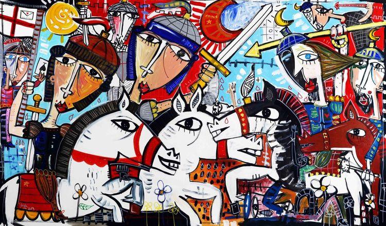 Piemont, Ritter, Gemälde, Schwert, Wandbild, Italien