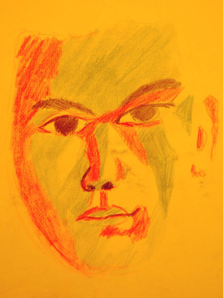 Schattierung, Selbstportrait, Teichnung, Farben, Vereinfachen, Zeichnungen
