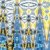 Bschoeni, Blau, Abstrakt, Gelb