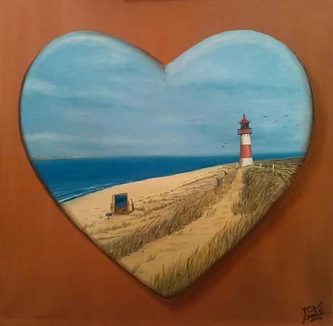 Meer, Hoffnung, Strand, Malerei