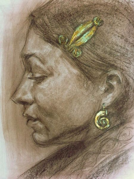 Zeichnung, Bronzezeit, Kopfschmuck, Zeichnungen, Mädchen