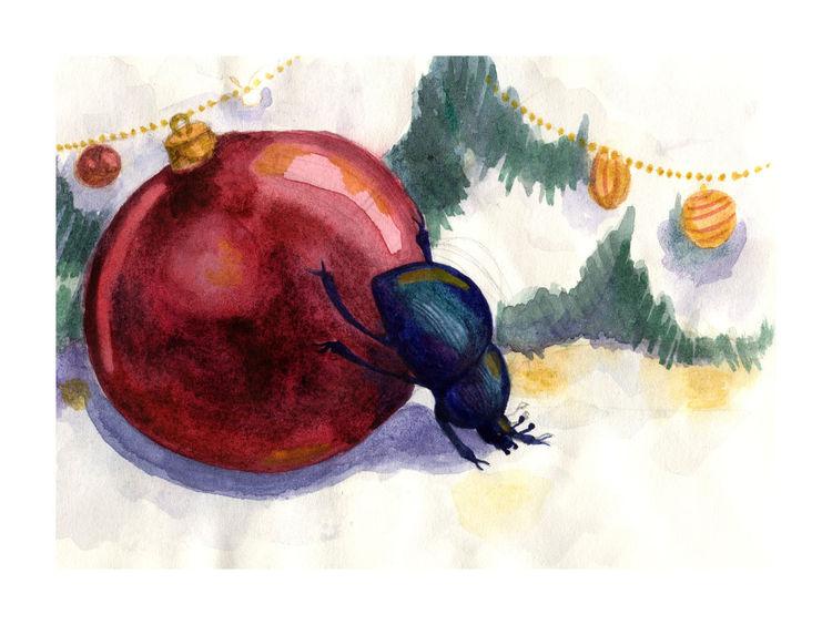 Fest, Kugel, Tanne, Weihnachten, Insekten, Winter