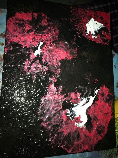 Weiß, Rot schwarz, Malerei