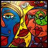 Gesicht, Malerei, Abstrakt