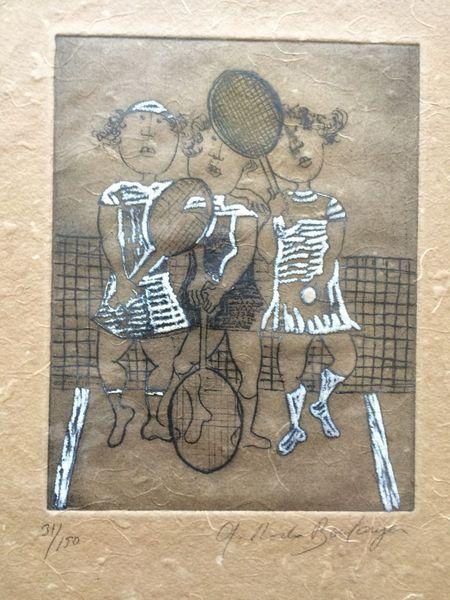 Druck mit malerei, Figural, Zeichnung, Pinnwand