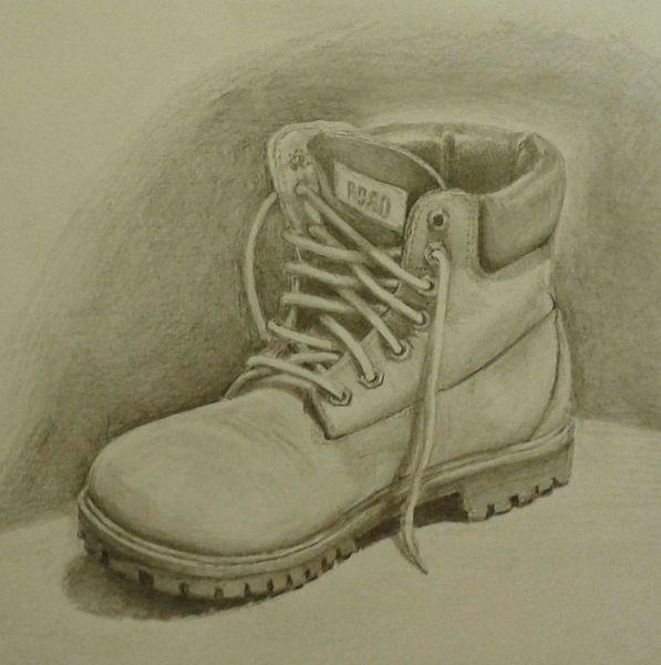 Skizzenbuch, Schuhe, Bleistiftzeichnung, Zeichnungen