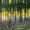 Spiegelung, Wasser, Abstrakt, Gemälde