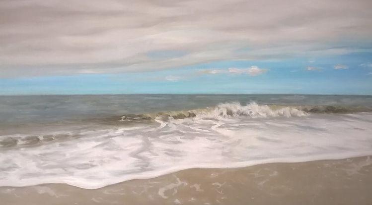 Wasser, Landschaftsmalerei, Ölmalerei, Insel, Himmel, Strand