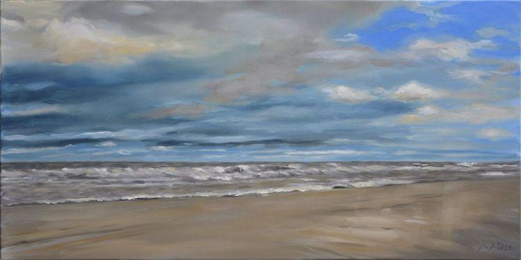 Insel, Welle, Strand, Meer, Wolken, Unwetter