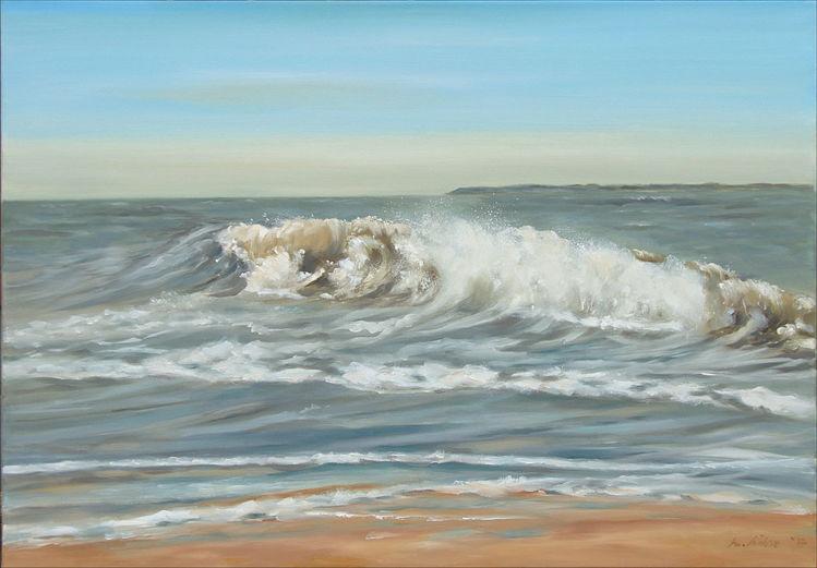 Wasser, Strand, Licht, Gischt, Landschaftsmalerei, Küste