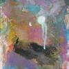 Klecks, Abstrakte malerei, Abstrakter expressionismus, Rosa