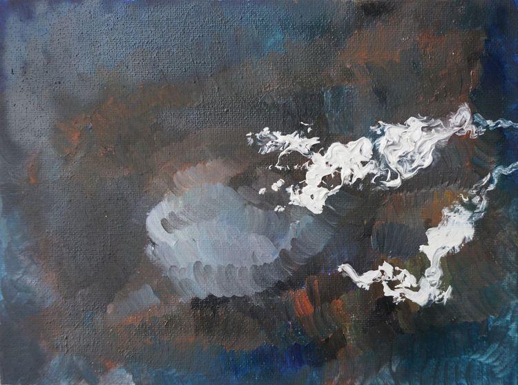 Universum, Wasserdampf, Dunkel, Malerei