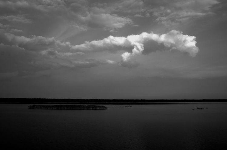 Landschaft, Wolken, Fuchur, Schwarz, Bodden, Weiß