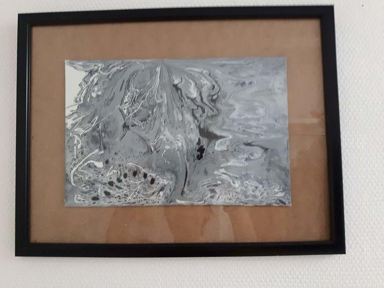 Malerei acryl, Drei farben, Schwarz, Modern, Weiß, Acrylmalerei