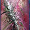 Acrylmalerei, Blüte, Farben, Wischtechnik