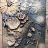 Silber, Wischtechnik, Malerei acryl, Mixed media